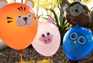 Figuras de animales con globos
